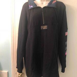 VS Pink oversized collar pocket hoodie large